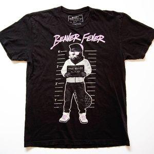 Rare Riot Society Beaver Fever Shirt Size M